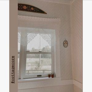 Vintage White Lace Hanky Val Curtain